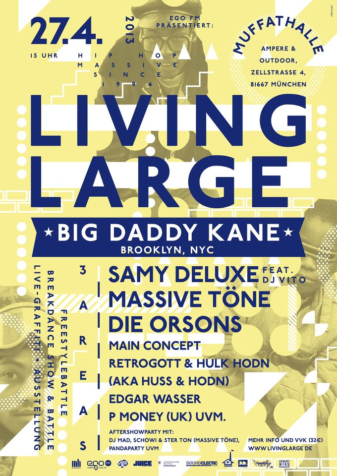 20 jahre living large flyer line up