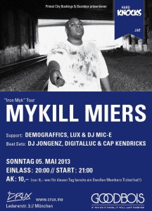 "Mykill Miers ""Iron Myk"" Tour at Hard Knocks live"