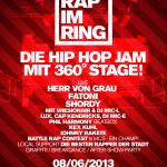 RAP IM RING // HERR VON GRAU, FATONI, SHORDY, LUX, uvm… 08.06.2013 // AUGSBURG (Trailer, Tickets, Infos)
