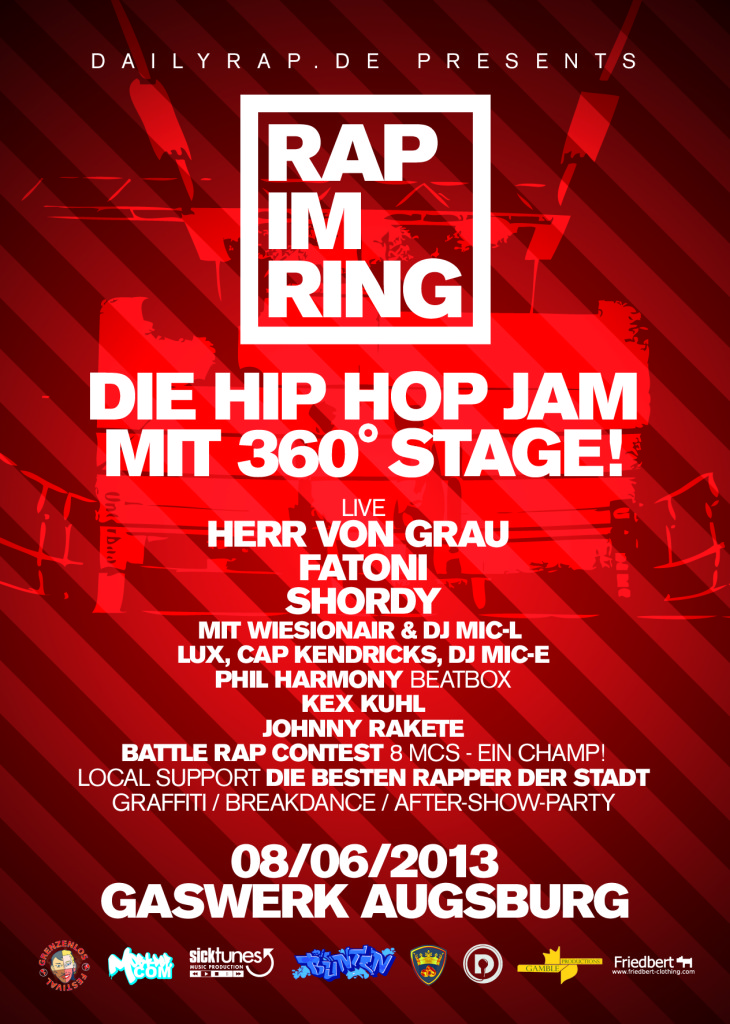 flyer rap im ring daily rap augsburg