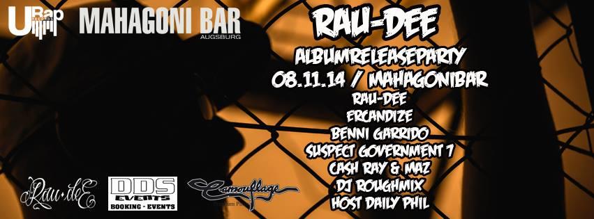Rau-Dee Releaseparty mahagoni bar augsburg
