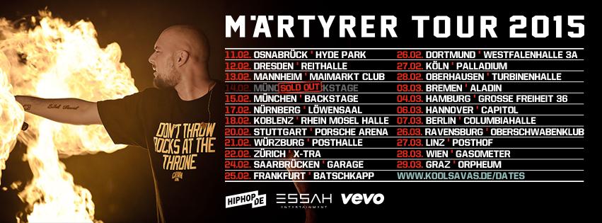 Kool Savas Märtyrer Tour 2015 live tickets
