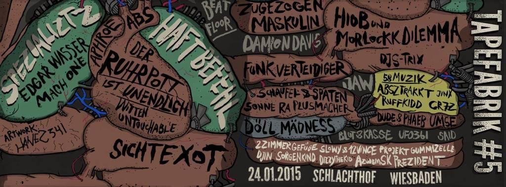 24 Tapefabrik Festival #5 - 24.01.2015 wiesbaden