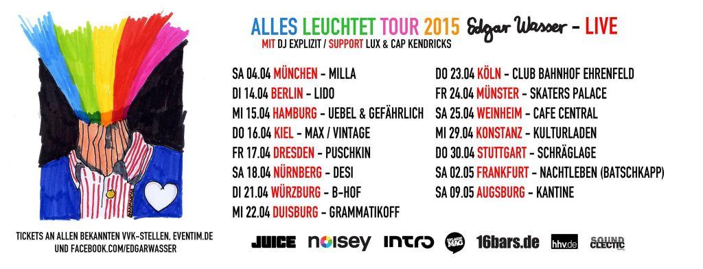 """EDGAR WASSER - """"ALLES LEUCHTET"""" TOUR 2015"""