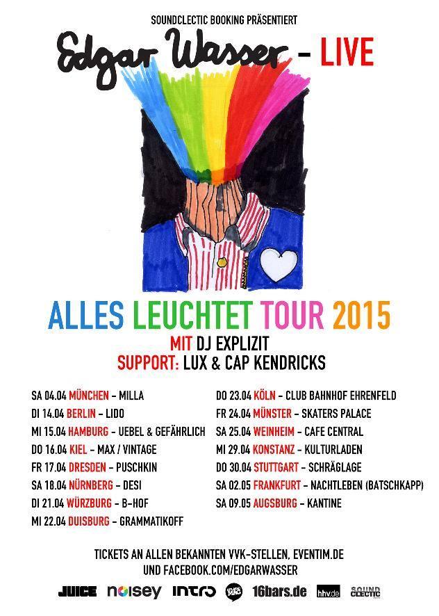 EDGAR WASSER - ALLES LEUCHTET -TOUR 2015