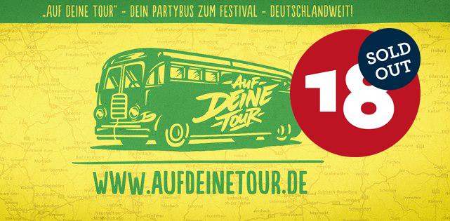 Auf DEINE Tour - Busse zum Splash! Festival 2015