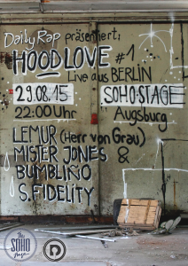 Hood Love August Soho Stage Augsburg Lemur