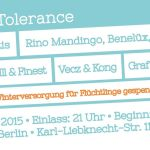 BEATS & BARS 4 TOLERANCE // 08.10.15 // BERLIN  // Mit Figub Brazlevič, Mortis, Rino Mandingo uvm..