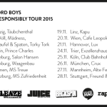 Betty Ford Boys – Drink Responsibly Tour 2015 (Infos, Dates, Tickets)