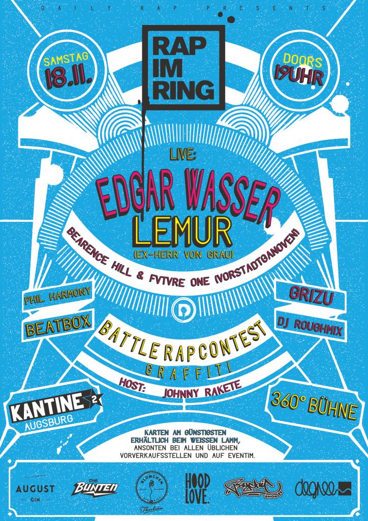 rap im ring 2017 kantine augsburg battle edgar wasser lemur