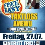 free & easy festival 2012 München: Amewu, Taktloss, Dude & Phaeb, Zlap, Cr7z