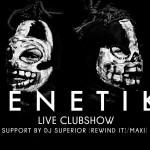 Ticketverlosung! GENETIKK (CLUBSHOW) 30.05. @ MAHAGONI BAR Augsburg