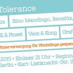 BEATS & BARS 4 TOLERANCE // 08.10.15 // BERLIN  // Mit Figub Brazlevič, Mortis, Rino Mandingo uvm..