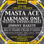 Rap im Ring #3 mit Masta Ace, Lakmann/Witten Untouchable, DLTLLY Battles, Johnny Rakete uvm.. 13.05.2016 – Kantine Augsburg